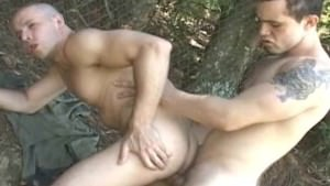 Horny Latino Gay Anal Fucking In The Woods
